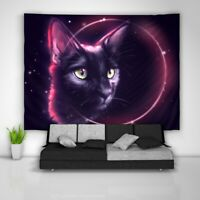 Cat Eclipse Tapestry Art Wall Hanging Sofa Table Bed Cover Poster