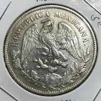 MEXICO 1899 Go RS  SILVER UN PESO HIGH GRADE CROWN