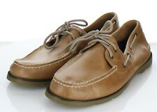 D43 NEW $95 Men's Sz 13 M Sperry Authentic Original Leather Boat Shoes In Brown