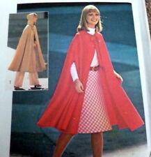 *LOVELY VTG 1970s CAPE Sewing Pattern  UNCUT