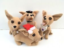 Lot Of 4 Retired Vintage Taco Bell Chihuahua Dog Plush Collectors Stuff Animal