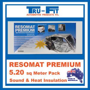 Resomat Sound & Heat Proofing Car Auto Sound Deadener 5.2sq MEGA BOX vs Dynamat