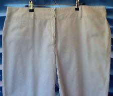 Ladies White Shorts Size 16 Cotton Elastine Excellent Condition Like New