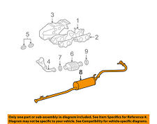 TOYOTA OEM 00-04 Tacoma 2.7L-L4-Exhaust System Muffler & Tail Pipe 174050C050