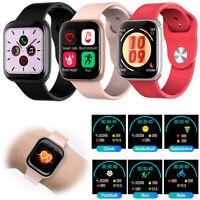 Touchscreen Damen Herren Smartwatch Pulsuhr Sport Armband Uhr für iPhone 11 XR X