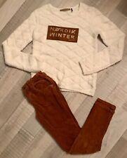 Ikks Zara 11 12 ANS  Fille : Pull Ecru + Pantalon Hiver BE