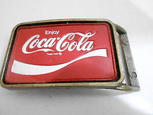 1970s VINTAGE BELT BUCKLE #05- 007 - COCA-COLA SODA #2