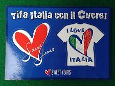 Cartolina NAZIONALE ITALIA adesiva , Advertising Pubblicita' Card 15x10,5 cm