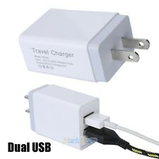 Dual 2Port USB 5V 2.4A US Plug Home Travel Fast Wall Charger Charging Adapter US
