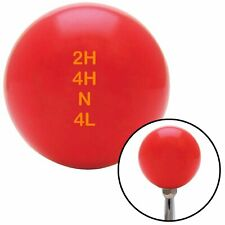 Orange Shift Pattern 42n Red Shift Knob fits kustom v8 motorsport truck jeep