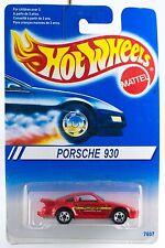 Hot Wheels Collector No.148 Porsche 930 Red 5 SP's International Card 1996