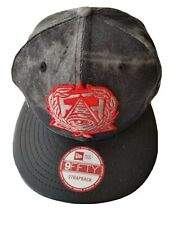 NWT SECRET SOCIETY NYC PYRAMID NEW ERA 9FIFTY FADED STRAPBACK HAT FLAT BALL CAP
