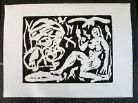 Original A.R. Penck Holzschnitt handsigniert und E.A. bezeichnet top