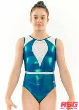 "RSG-433 /""Jordyn/"" Black SALE Premium Gymnastics Sleeveless Leotard RS Gymwear"