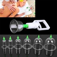 Effective Healthy 12 Cups Medical Vacuum Cupping Suction Therapy Device Set US L