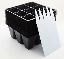 New listing Seedling Starter Trays, 216 Cells: (24 Trays; 9-cells Per Tray), Plus 5 Labels