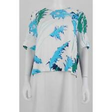 Worn Once Whistles Pampus Palm Print Crepe Top UK12 vgc