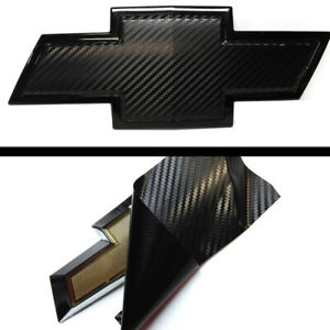 (2) Vinyl Sheets Wrap Chevy Universal Bowtie Emblem Overlay Cover Decal��★★★★
