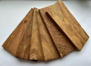 3 Pairs of Rose Wood Scales for Knife Handle Making Blanks Crafts 12.5x5cm 167