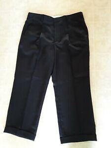 Men's Montique Pleated Front Black Dress Casual Dress Pants - Size 42