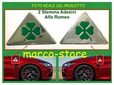 Coppia Quadrifoglio Verde Grandi Alfa Romeo Giulietta GT Mito 147 156 159 Fregio
