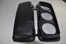 """Saddlebag TRIPLE 6.5"""" Round Speaker Lids - Harley Bagger FLH FLTR HD"""
