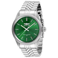 Invicta Men's Watch Specialty Quartz Green Dial Silver Tone Steel Bracelet 29374