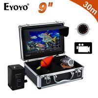 """Eyoyo 30M 9"""" inch 1000TVL IR Underwater Fishing Video Camera 8GB DVR Fish Finder"""