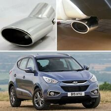Curved Exhaust Muffler Tail Pipe Tip Tailpipe for Hyundai ix35 2011-2014 12 13
