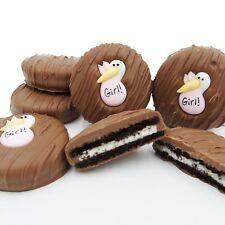 Philadelphia Candies Pink Stork (It's a Girl!) Milk Chocolate OREO® Cookies Gift
