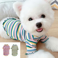 Pet Cat Puppy Small Dog T Shirt Teacup Chihuahua Clothes Jack Russell Vest XS-XL