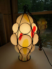 Murano Venetian Dino Martens huge caged glass hanging lamp One of A Kind!!