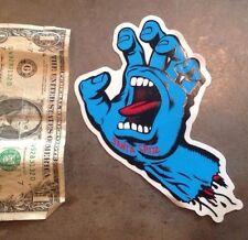 "Santa Cruz Skateboard Sticker 6"" Old School Screaming Hand Large Skate Punk"