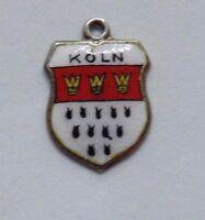 Köln- Germany - 800  Silver Vintage European Enamel Travel Souvenir