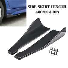 2PCS Universal Rear Lip Side Skirt Extension Rocker Splitter Winglet Wing Bumper