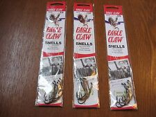 18 Snelled Eagle Claw 139 Bait Holder BaitHolder Fishing Hooks Size 3/0
