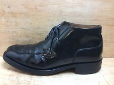 Loake Cromwell Men's Black Patent Leather Ankle Formal Boots Size UK 8 EU 42