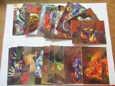 1995 Fleer Flair Marvel Annual Foil Powerblast Chase Set (24 Cards) Power Blast