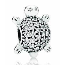 Genuine Pandora Sparkling Silver Cubic Zirconia Sea Turtle Charm 791538CZ