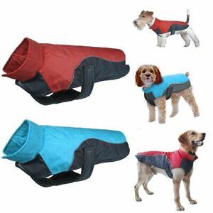 Waterproof Warm Winter Dog Coat Clothes Dog Padded Fleece Pet Vest Jacket Large