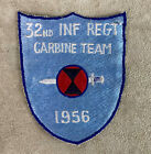 US ARMY 32nd INF REGT CARBINE TEAM PATCH 7th INFANTRY DIVISION 1956 Original Period Items - 13982