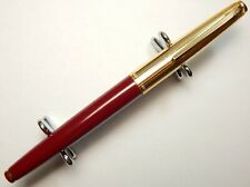 CHINA VINTAGE GOLDEN STAR 102 FOUNTAIN PEN 14K M NIB BURGUNDY GT RARE