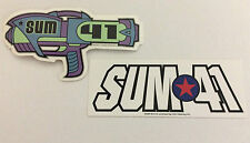 SUM 41 2-Pack of Stickers Raygun & Classic Logo NEW OFFICIAL MERCHANDISE