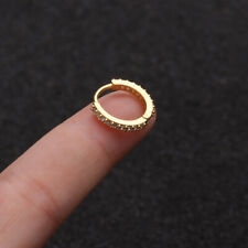 Hoop Jewelry Cartilage Zircon Colored Earing Ring Round Puncture Ear