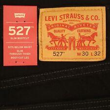 Levis 527 Jeans Mens New Slim Boot Cut BLACK Size 30 x 32 Levi's NWT #243