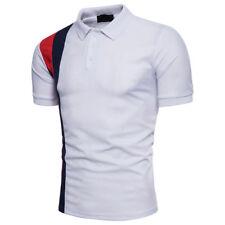 Stylish Men's Slim Fit POLO Shirts Short Sleeve Casual Plain T-shirt Tees Tops