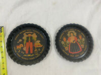 Vintage  - Country Plate Tins Set - Wall Hanging