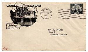 #623 Wilson 17c FDC 1925 Staunton VA - 1st C.E. Nickles Mellone CV$400
