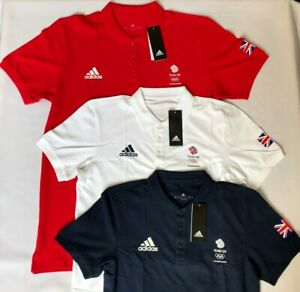 Official Olympic Polo Shirt Adidas Team GB Red Blue White Mens Womens Latest Kit