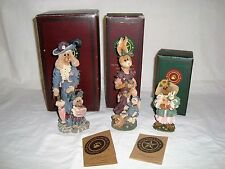 The Boyds Folkstone Collection 3 Different Pieces With Boxes